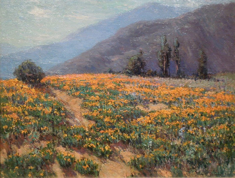 Poppies Near Pasadena by Benjamin Brown (1865-1942). Private Collection, Courtesy The Irvine Museum