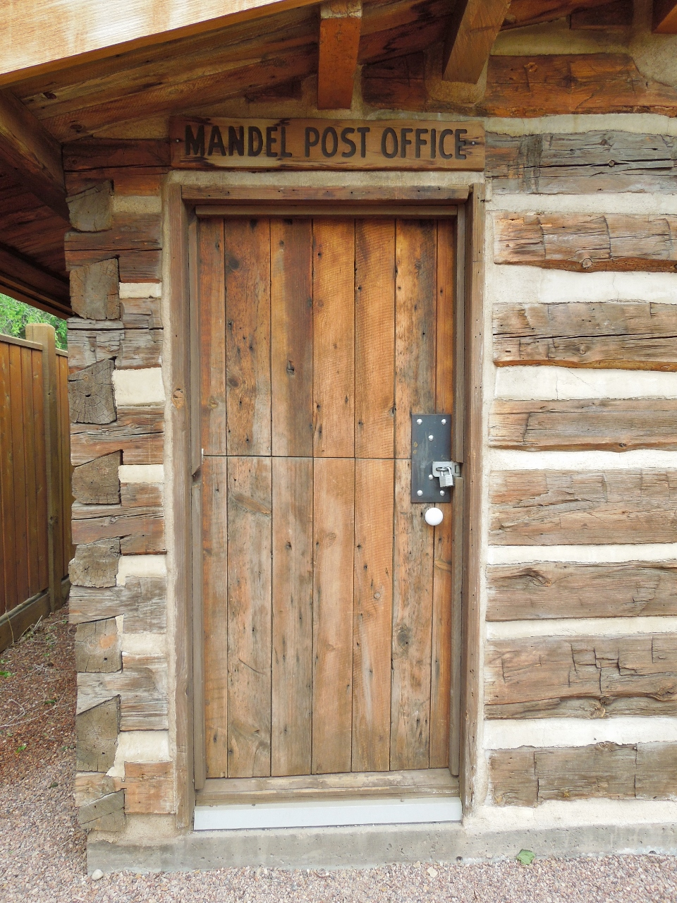 Mandel Post Office Sign
