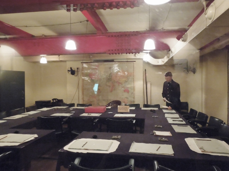 Winston Churchill met with his War Cabinet in this underground room.