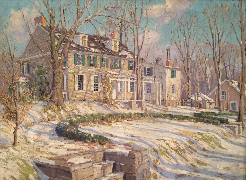 """""""My House in Winter"""" by Charles Morris Young"""