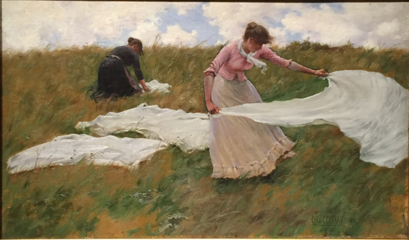 """""""A Breezy Day,"""" 1887. Charles Courtney Curran."""